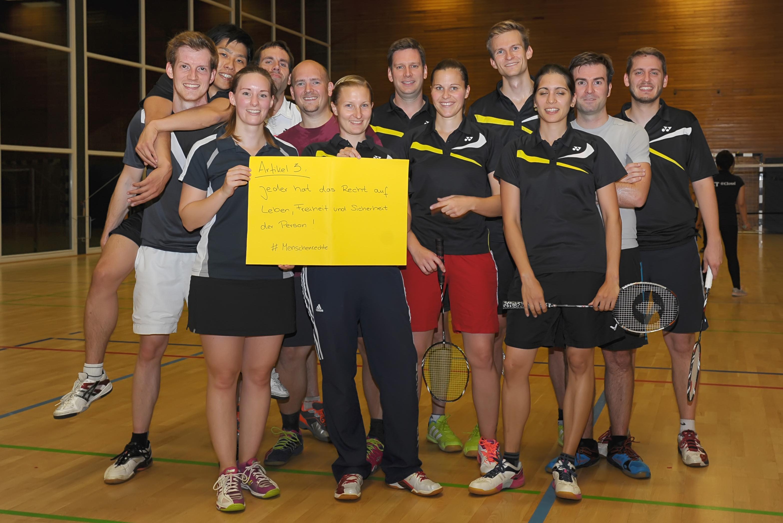 Menschenrechte-Badminton